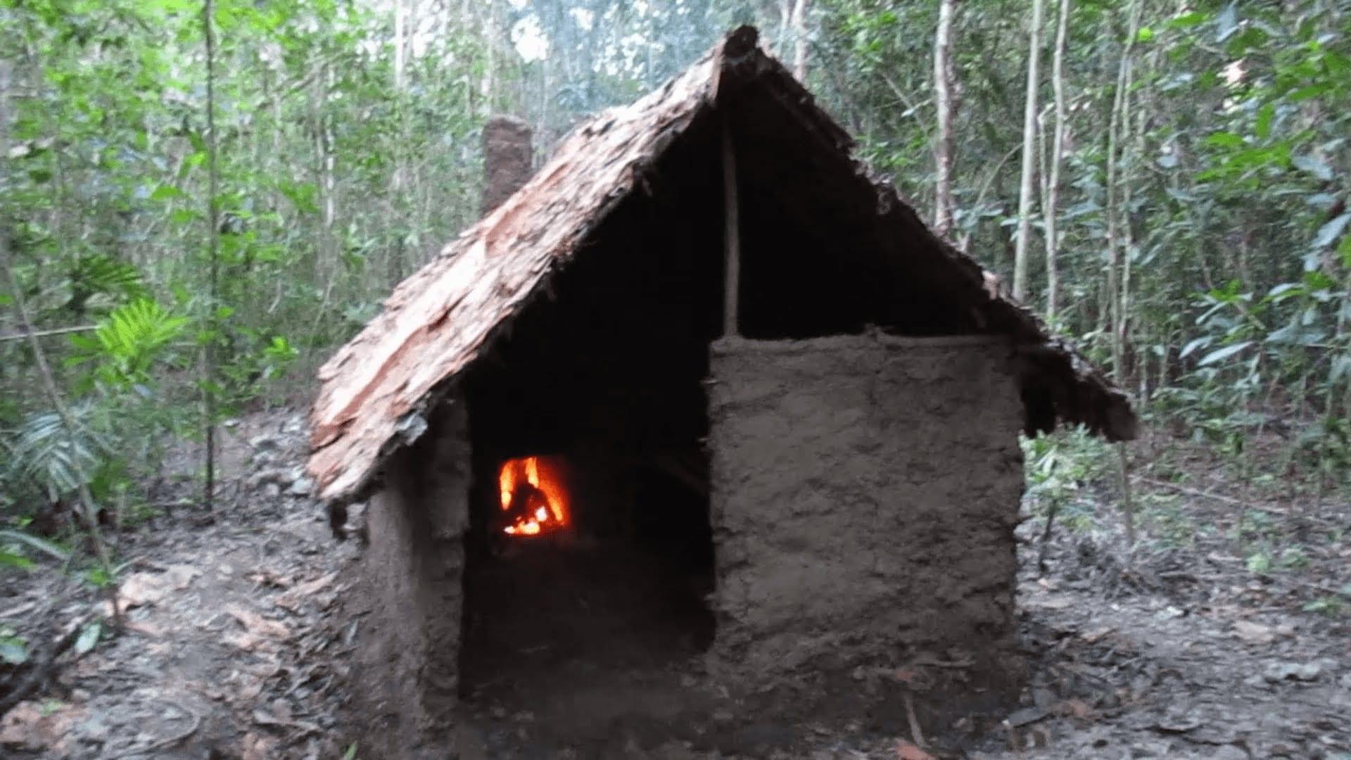 Домик в лесу своими руками видео