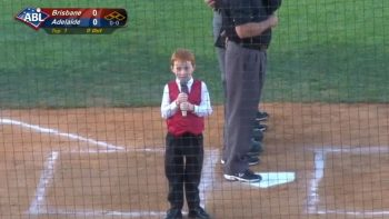 Cute Kid Adorably Sings Australian National Anthem With Hiccups