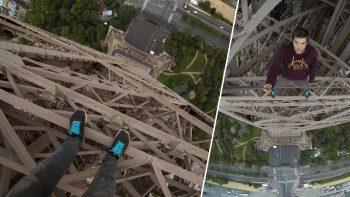 Daredevil Climbs The Eiffel Tower
