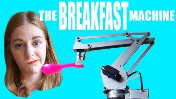 Girl's Breakfast Feeding Machine Is A Big Mess