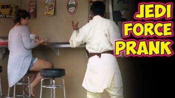 Jedi Force Prank At Hot Dog Stand