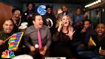 Jimmy, Adele, The Roots Sing Hello With Classroom Instruments