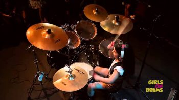 Little Girl Plays Drums For Chop Suey By System Of A Down