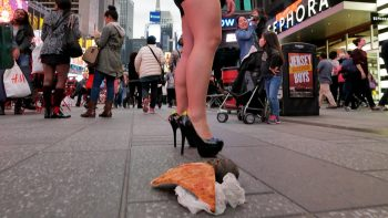 Remote Control Pizza Rat In New York Prank