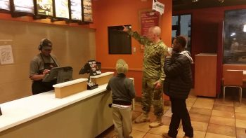 Army Ranger Buys Two Kids Food At Taco Bell After Realizing They Were Hungry