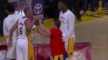Lucky Fan Scores Half-Court Shot At Lakers Game For $95,000