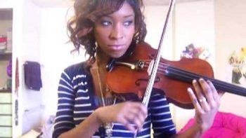 Girl Imitates Car Alarm On Violin