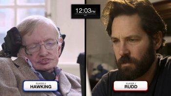 Paul Rudd And Stephen Hawking Plays Quantum Chess