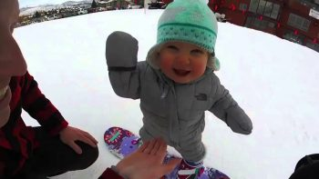 Snowboarding One Year Old Is The Cutest