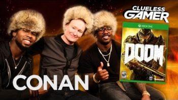 Conan O'Brien Plays The New Doom With NFLStars