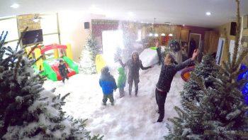 Dad Pulls Epic Indoor Snowstorm Prank On Family