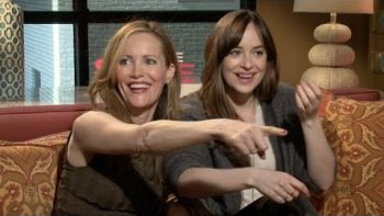 Dakota Johnson And Leslie Mann Shamelessly Hit On Reporter