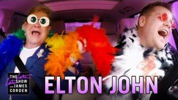 Elton John Goes Carpooling With James Corden