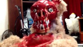 Peek A Boo Teddy Bear With Ripped Off Face Is From Your Nightmare