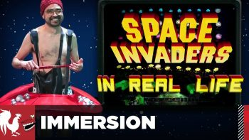 Playing Space Invaders In Real Life