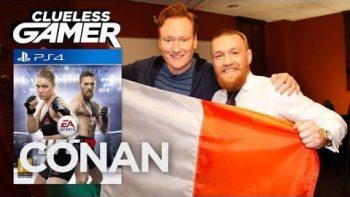 Conan O'Brien Plays UFC 2 With Conor McGregor