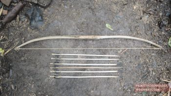 Man Makes Traditional Bow And Arrow Using Only Natural Tools