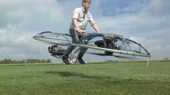 British Inventor Creates Homemade Hoverbike