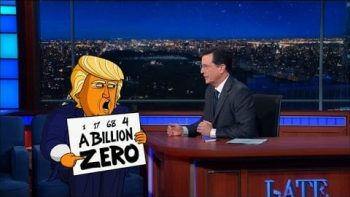 Cartoon Donald Trump Returns To The Late Show With Stephen Colbert