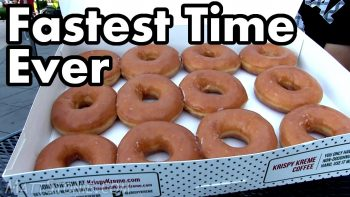 Competitive Eater Devours A Dozen Krispy Kreme Donuts In Just Seconds