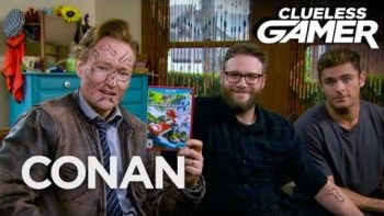 Conan Plays Mario Kart 8 With Seth Rogen And Zac Efron