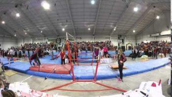 Gymnastics Coach Performs Perfect Last Second Save