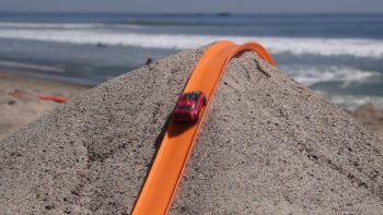 Hot Wheels Toy Car Track On The Beach Is Surprisingly Entertaining