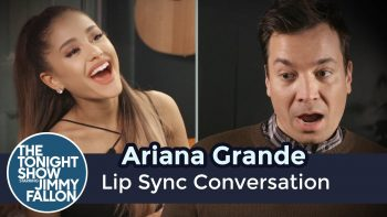Jimmy Fallon Has A Lip Sync Conversation with Ariana Grande