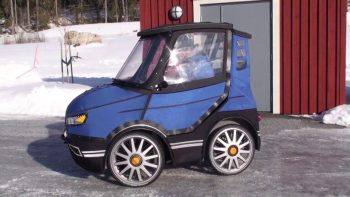 Tiny Practical Bicycle Car Protects Rider From Elements