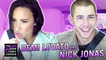 Demi Lovato And Nick Jonas Go Carpooling With James Corden