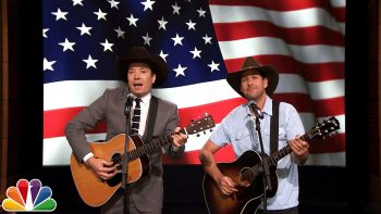 Jimmy Fallon And Adam Sandler Sing a Song For The Troops