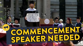 Asking Strangers To Be A Commencement Speaker