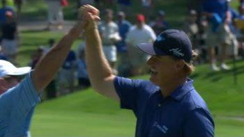 Ernie Els 'Dunks' Golf Shot At Tournament