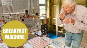 Mechanic Invents Rube Goldberg Style Breakfast Making Machine