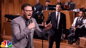Seth Rogen And Jimmy Fallon Have A Lip Sync Battle