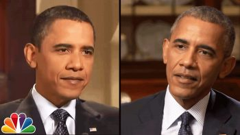 2016 President Obama Chats with 2009 President Obama