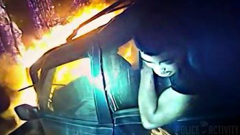 Cop Saves Man Trapped In Burning Car With Bodycam Recording