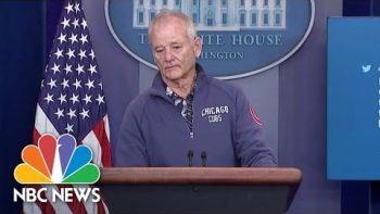 Bill Murray Crashes White House Press Briefing Room To Talk Baseball