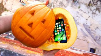 Can a Pumpkin Protect an iPhone 7 from 100ft Drop Test?