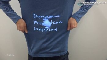 Dynamic Projection Mapping On Shirts And Other Deformed Surfaces