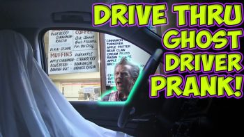 Epic Drive Thru Ghost Driver Prank!
