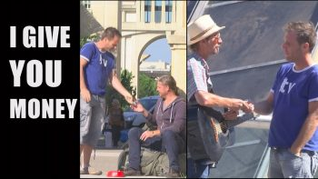 Rémi Gaillard Gives Away 500 Euro To People On The Street