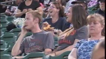 Girl Pours Her Drink On Boyfriend After Being Rejected On Jumbotron Kiss Cam
