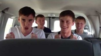 Friends Perform Book Of Mormon's 'Hello' On Van