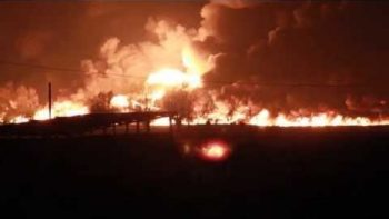Chemical Train Explodes In Belgium