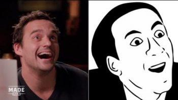 Jake Johnson Imitates Popular Internet Memes
