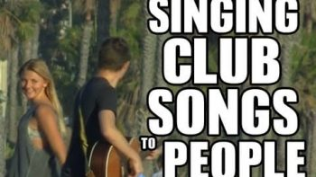 Playing Club Songs On Acoustic Guitar For Girls In Public Prank