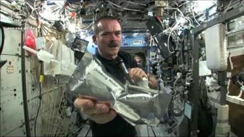 Wringing Out A Wet Washcloth In Space