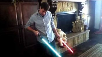 Darth Baby Gets His Hands On Lightsaber