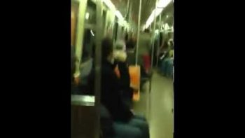Saxophone Battle On New York City Subway Train